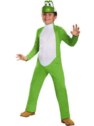 Boys Super Mario Brothers Yoshi Deluxe Costume