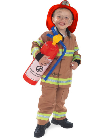 Boys Tan Firefighter Costume