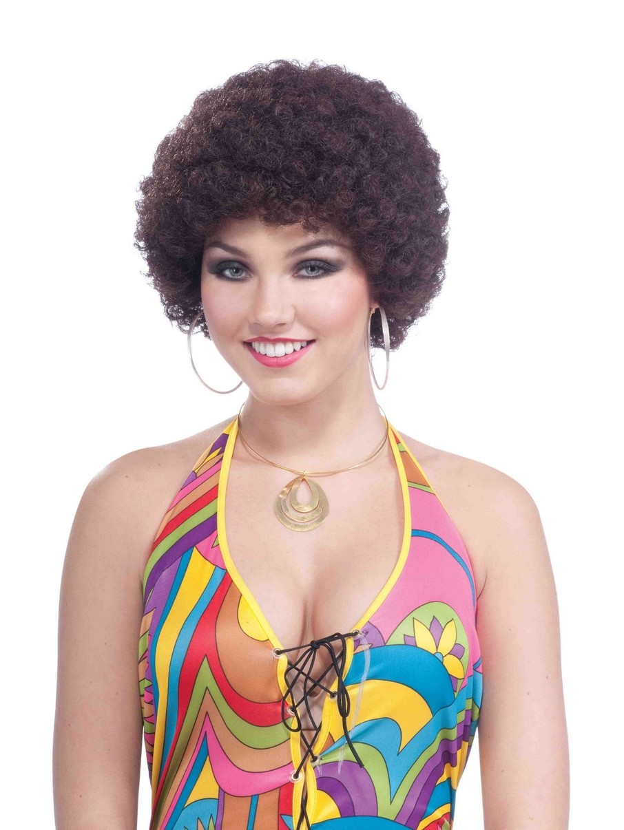 View larger image of Women Brown Afro Headpiece