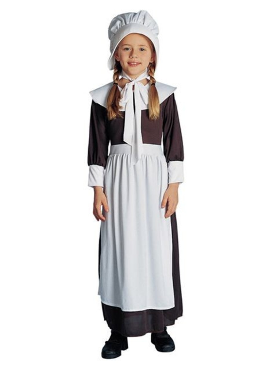 View larger image of Brown Colonial Pilgrim Girl's Costume