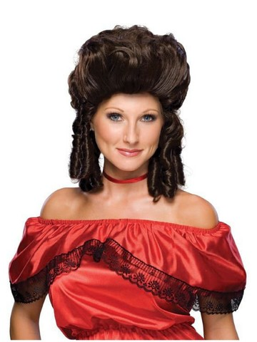 Colonial Woman Brown Wig