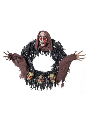 Brown Hood Wreath Halloween Decoration