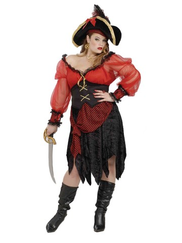 Womens Buccaneer Beauty Adult Plus Costume