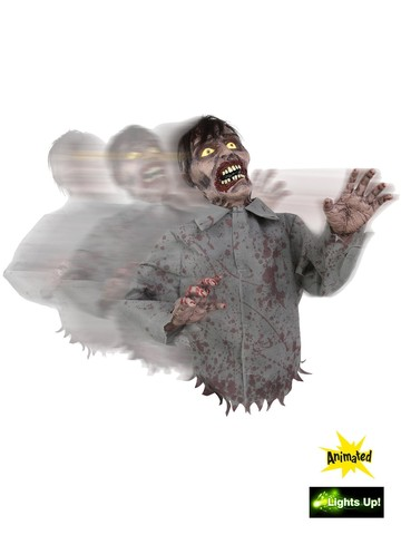 Bump and Go Animated Zombie Prop