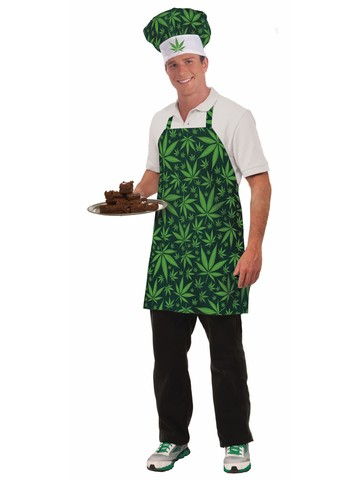Marijuana/Cannabis Apron and Hat