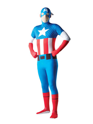 Marvel Skin Suit Captain America Costume