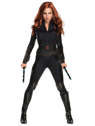 Captain America Civil War Deluxe Black Widow Sexy Adult Costume