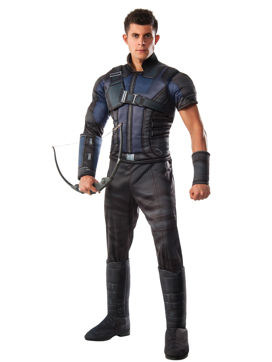 View larger image of Captain America Civil War Deluxe Muscle Chest Hawkeye Adult Costume
