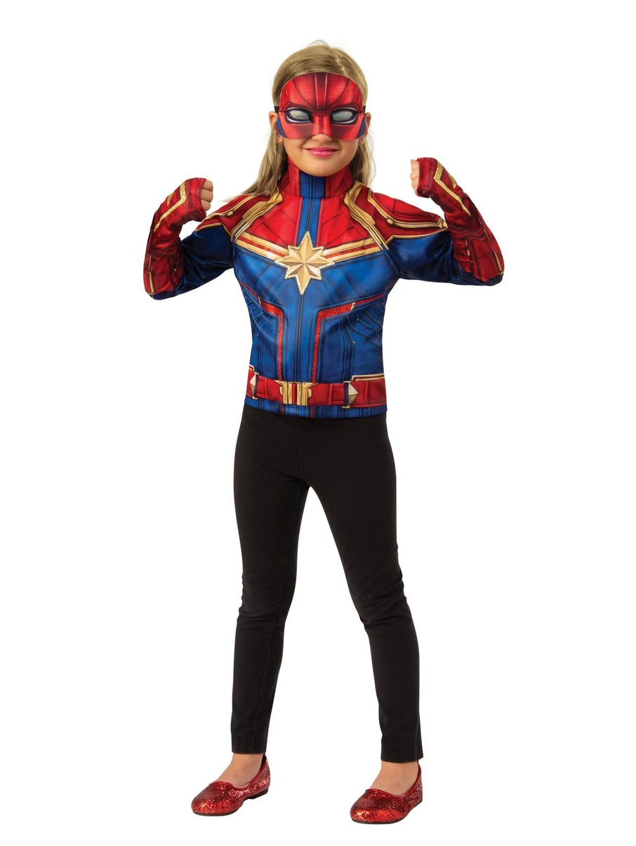 View larger image of Kid's Captain Marvel Dress Up Accessories Set