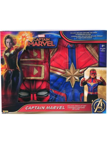 Kid's Captain Marvel Dress Up Starter Set