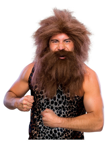 Caveman Brown Wig Costume Accessory