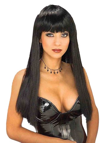 Shiny Black Synthetic Wig