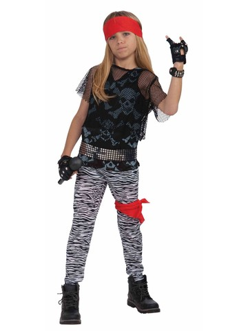 Child's Full 80's Rockstar Costume