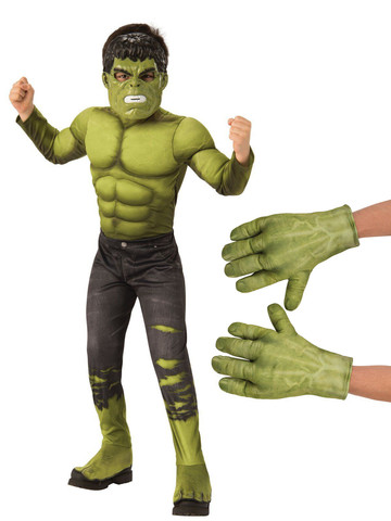 Child Avengers Endgame Hulk Costume Kit