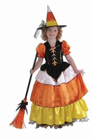Child Candy Corn Witch Costume
