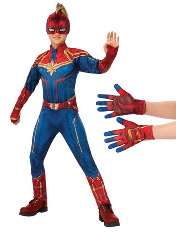 Child Captain Marvel Costume Kit L