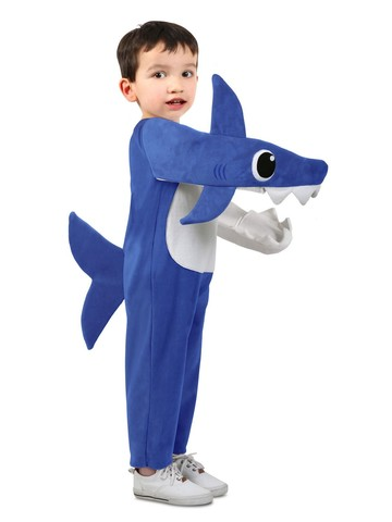 Hilarious Kid's Chompin' Daddy Shark Costume with Sound Chip