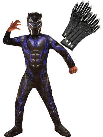 Child Endgame Black Panther Purple Costume Kit