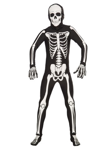 Child I'm Invisible Bone Suit Costume