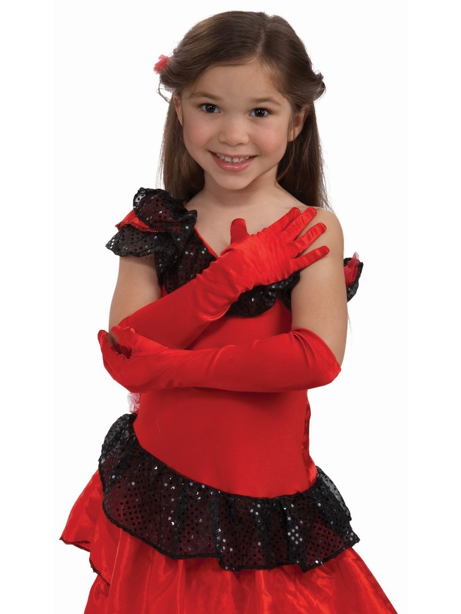 View larger image of Child Red Opera Gloves
