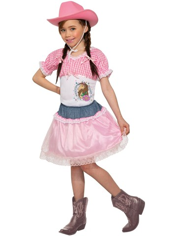 Kid's Pink Cowgirl Costume