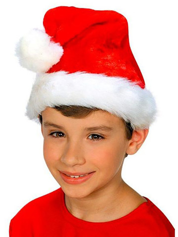 Child Plush Santa Hat