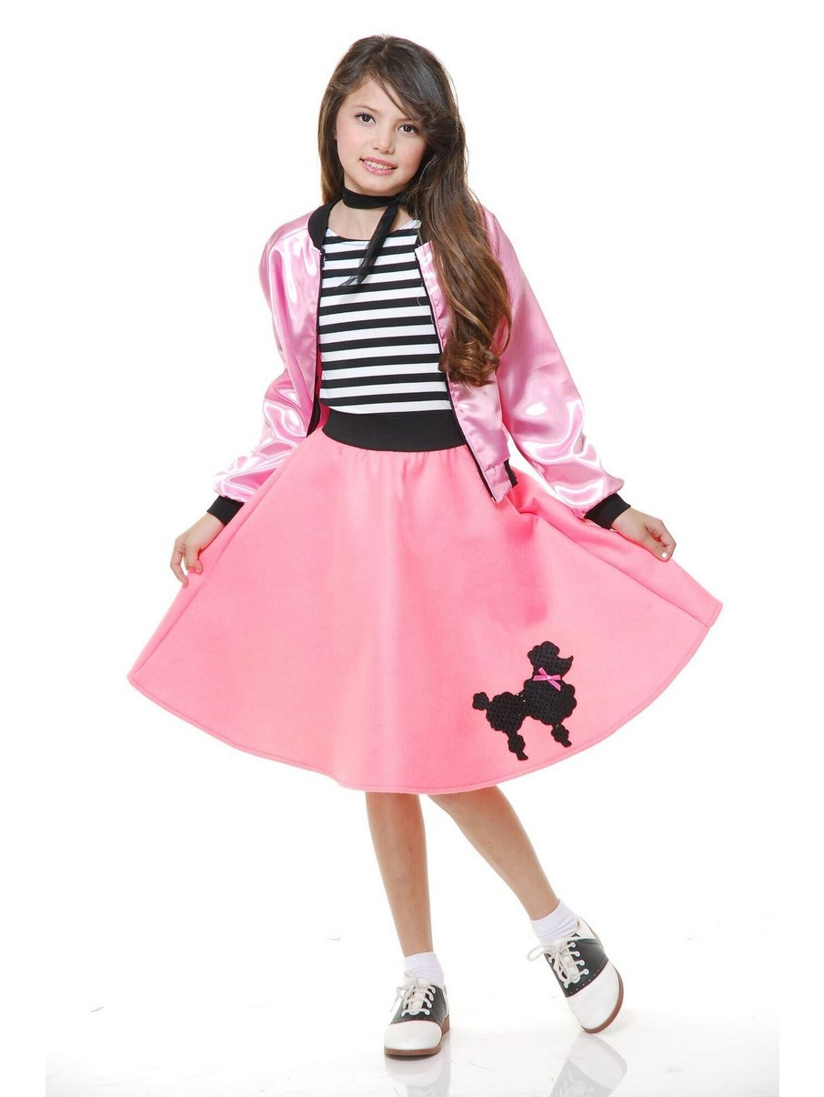 View larger image of Pink Poodle Dress for Girls