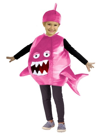 Pink Shark Feed Me Costume for Girls