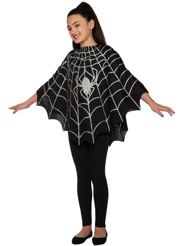 Kid's Spider Poncho Costume