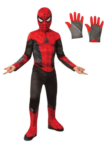 Child Spiderman Costume Kit - Red & Black