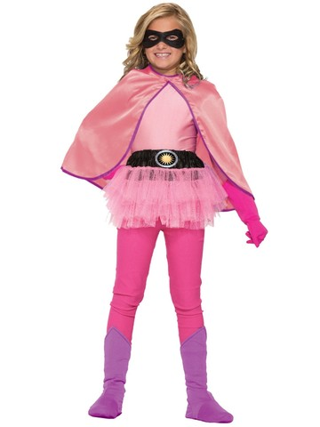 Pink Super Hero Childrens Cape
