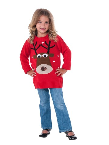 Reindeer Sweater Classic For Kids
