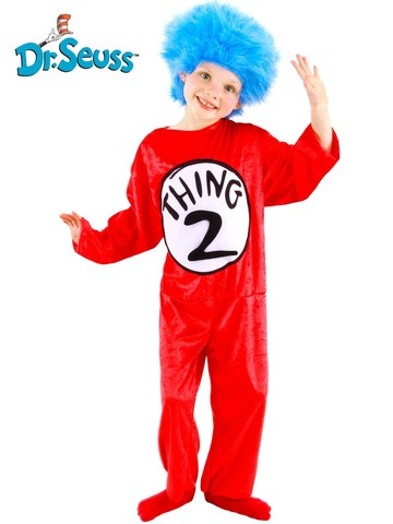 Childrens Seuss Thing 1-2 Costume