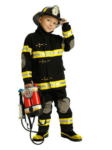 Child's Black Junior Firefighter Costume