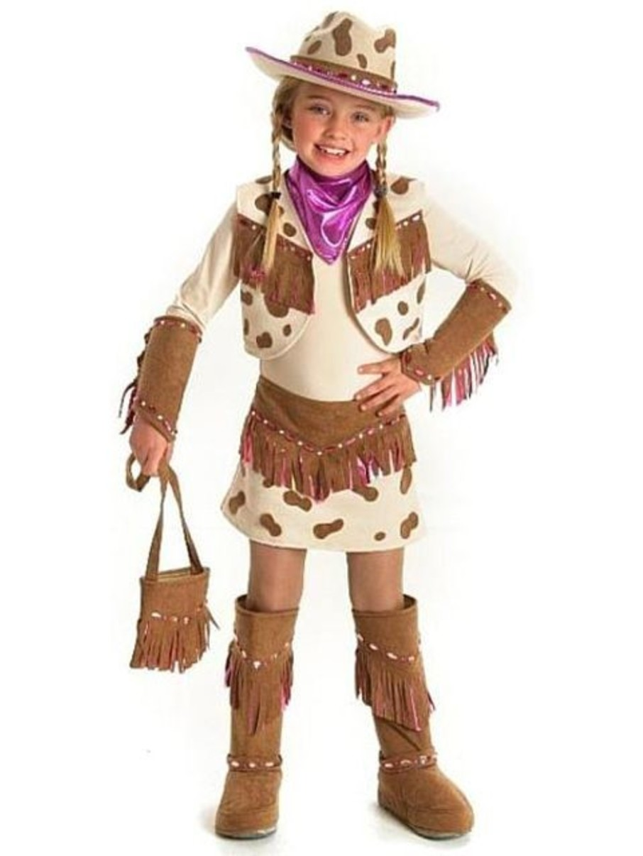 View larger image of Rhinestone Cowgirl Costume for Girls