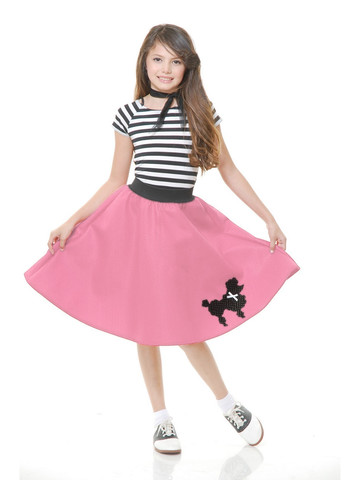 Pink Poodle Skirt Childs Costume