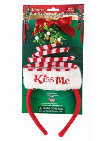"Christmas ""Kiss Me"" Headband Accessory"