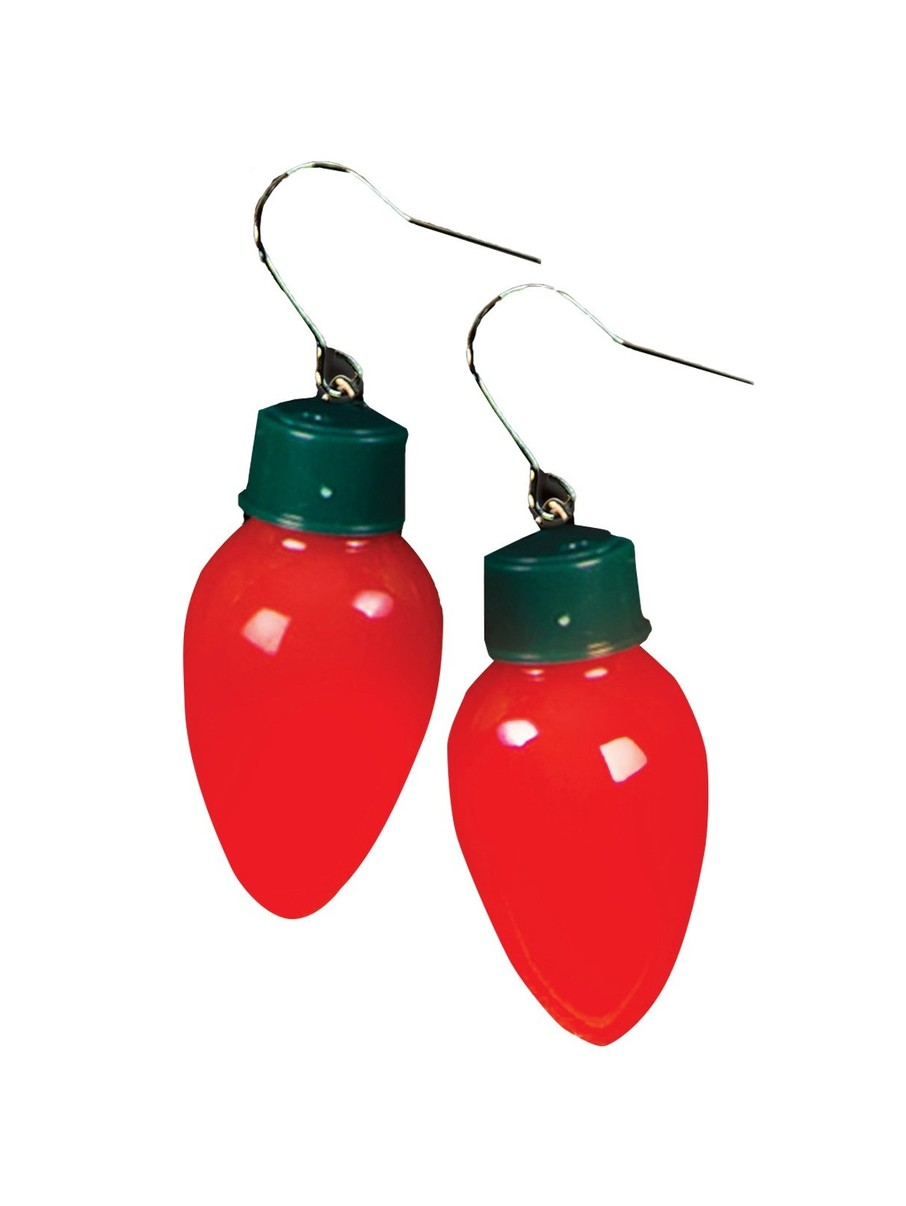 View larger image of Christmas Light Bulb Earrings