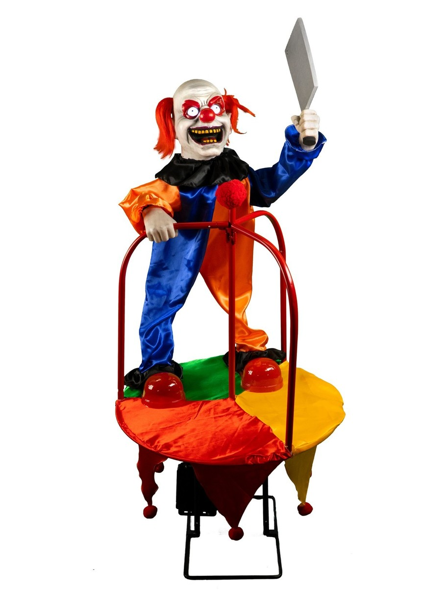 View larger image of Carousel of Clowns Animated Decoration