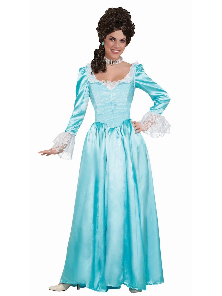 View larger image of Blue Colonial Lady Costume for Adult