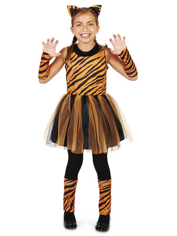 Cool Cat Tigress Girl Child Costume