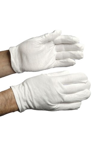 White Cotton Adult Gloves
