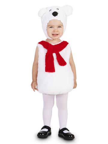 Cozy Polar Bear Toddler Costume