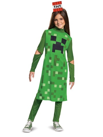 Child's Minecraft Creeper Girl Costume