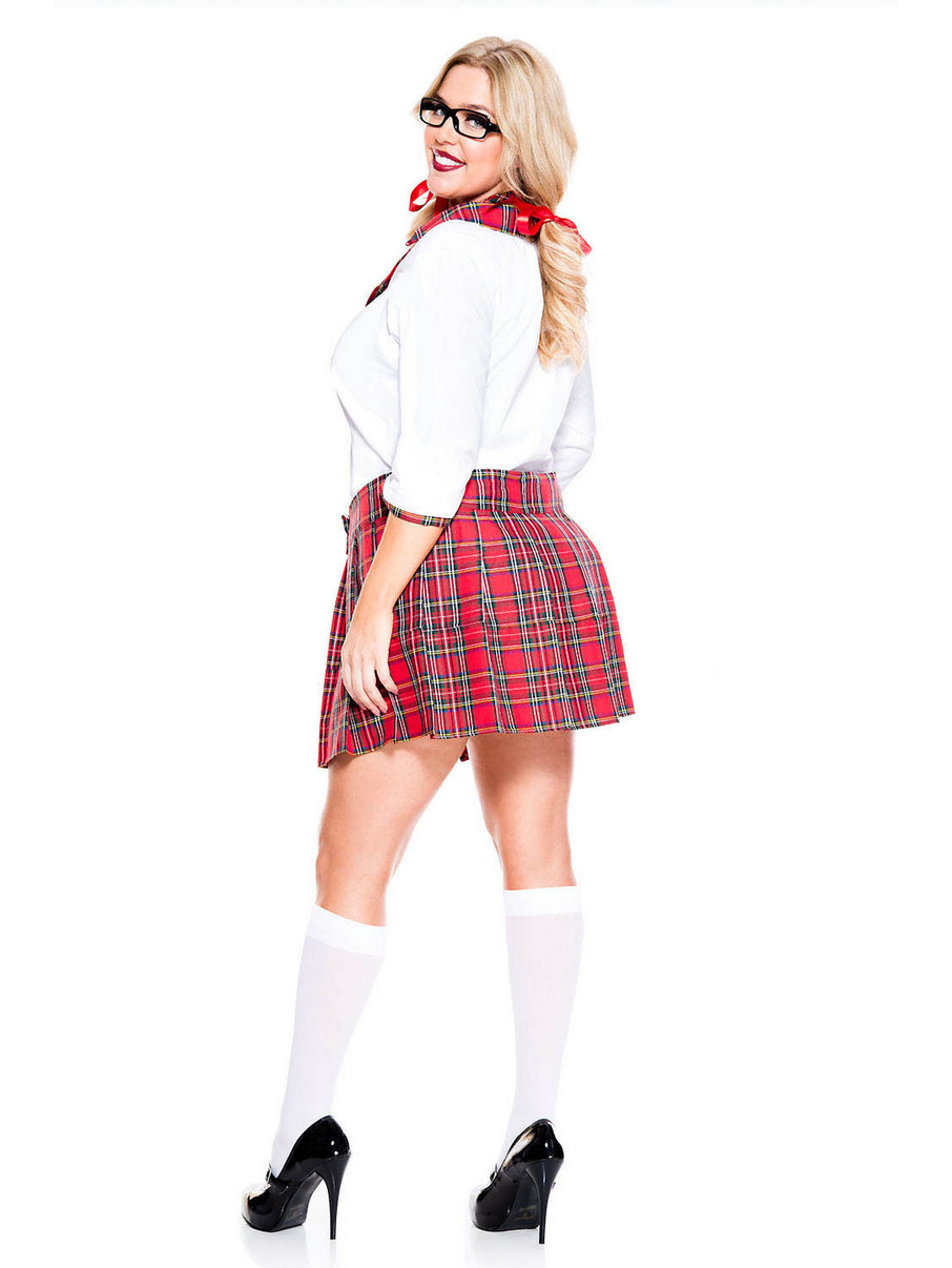 Curvaceous School Nerd - Womens Sexy Plus Size Costume -6479