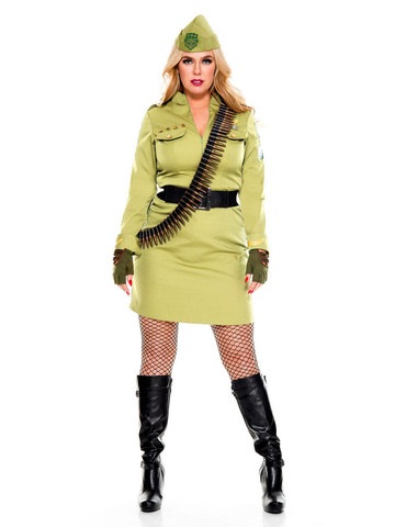 Curvy Military Cadet - Womens Sexy Plus Size Costume