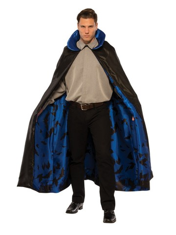 Dark Night Adult Blue Cape Costume Accessory