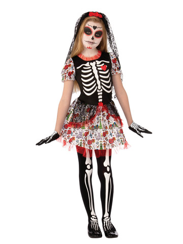 Day of the Dead Zombie Girl Costume