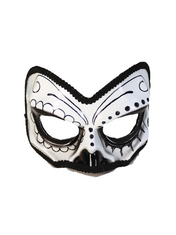 Day of the Dead Sugar Skull Half Mask