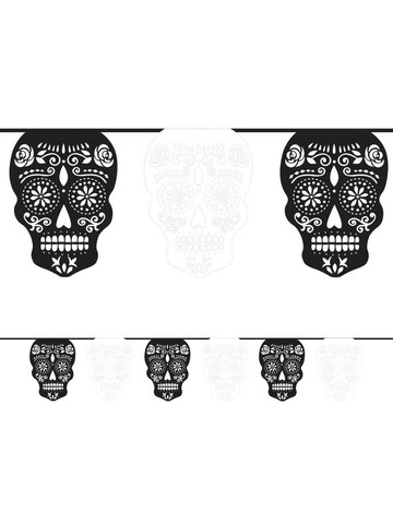 Day of the Dead 12' Paper Flag Banner (Each)